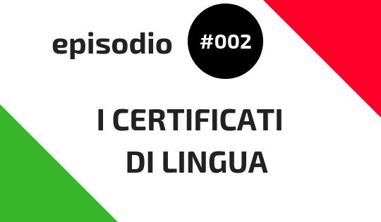 I certificati di lingua