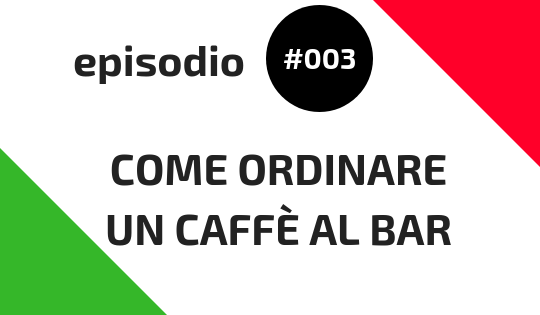 come ordinare un caffè al bar