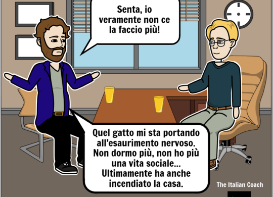 The italian coach comic