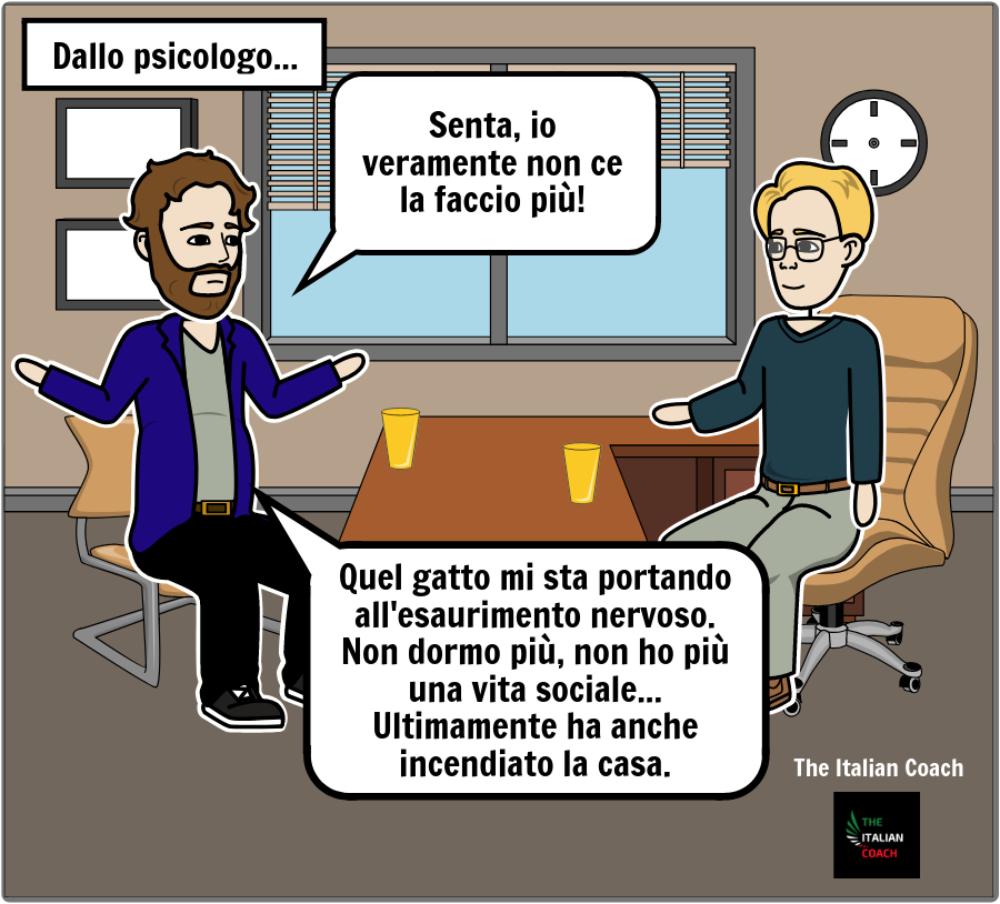 The italian coach comic