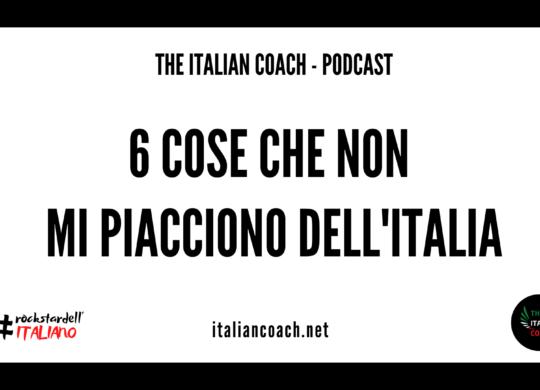 cose che non mi piacciono dell'italia