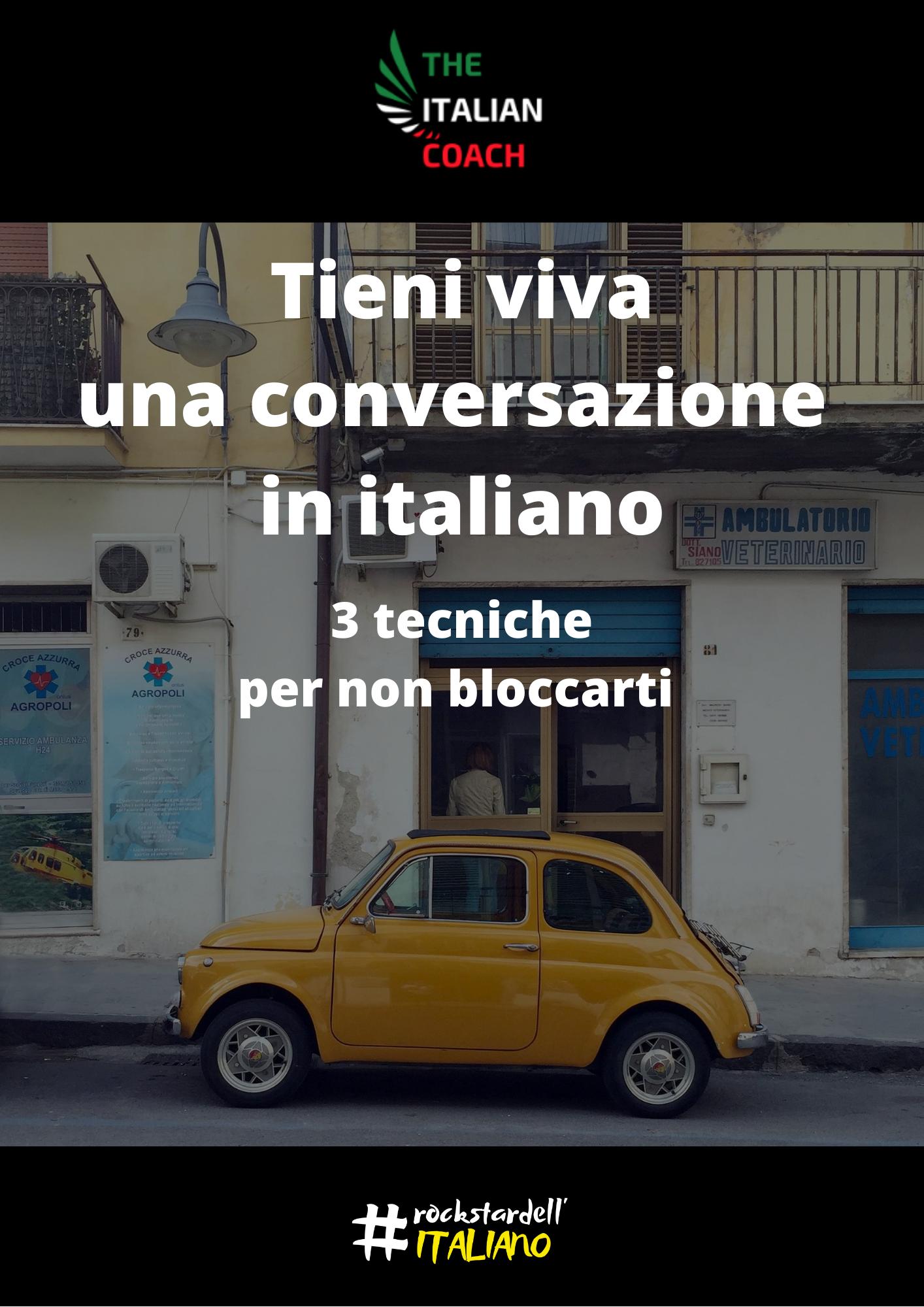 Non bloccarti più quando parli italiano